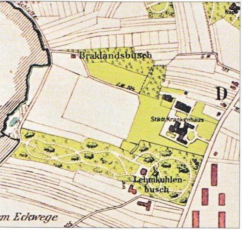 Lehmkuhlenbusch Standort der Villa Zeitschnitte