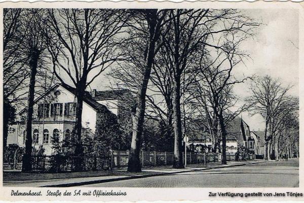 """Offizierskasino 1939 (die Oldenburger Str. hieß zu der Zeit """"Straße der SA"""""""